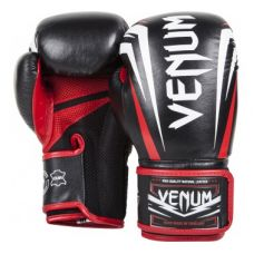 "Боксерские перчатки VENUM ""SHARP"" BOXING GLOVES - BLACK/ICE/RED - NAPPA LEATHER"
