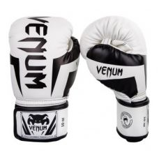 Боксерские перчатки VENUM ELITE BOXING GLOVES - WHITE/BLACK