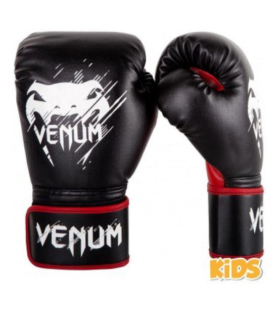 Боксерские перчатки  VENUM CONTENDER KIDS BOXING GLOVES - BLACK/RED