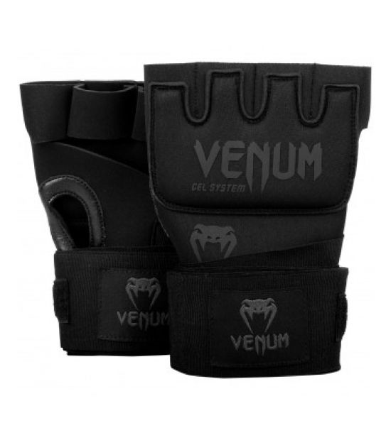 Бинты боксерские VENUM KONTACT GEL GLOVE WRAPS-BLACK/BLACK