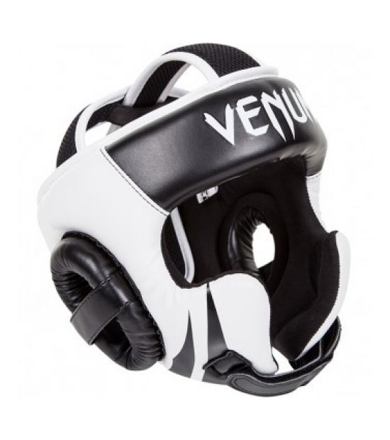 Боксерский шлем VENUM CHALLENGER 2.0 HEADGEAR - HOOK & LOOP STRAP - BLACK/ICE
